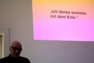 """Vorstellung von """"Some Book"""" mit einer Lesung von Michael Schirner, Berlin 2013, Bild: Tom Zander"""